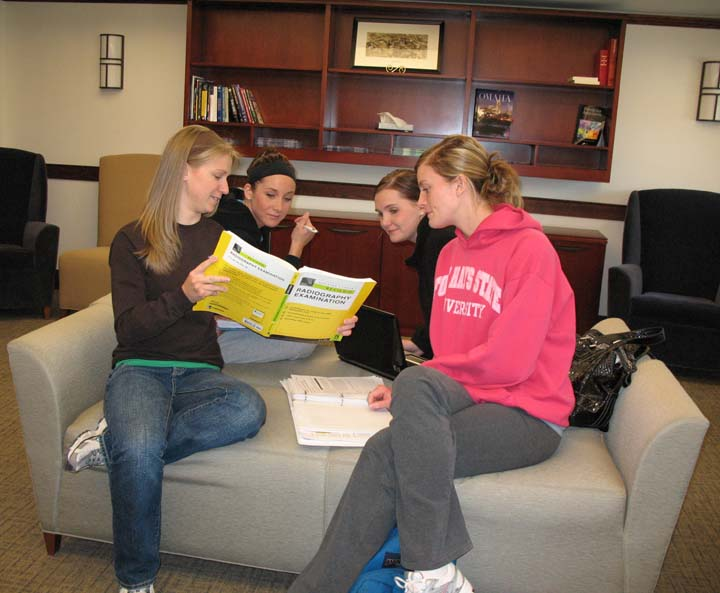 Radiography Students in the Bennett Hall Reading Room.