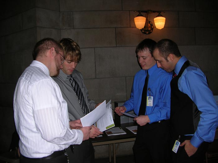 PT students: Dustin Davidson, Brandon Wehenkel, Brett Kollars and Brant Loose.