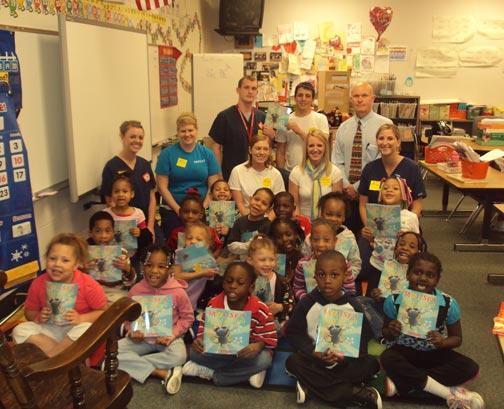 RSTE volunteers with Miller Park students