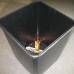 photo of linerless trash can