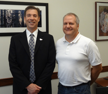 Photo of Dr. Meyer and Tom Steffens