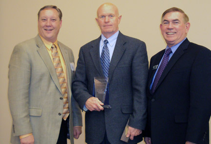 Photo of Dr Matt Gottschall, President, CCC-Columbus; Temme; Greg Smith, President, Central Community College.
