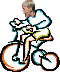 Fran Higgins on a trike