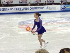 Eva Donnelly, sweeping at the 2013 USFSA Championships.