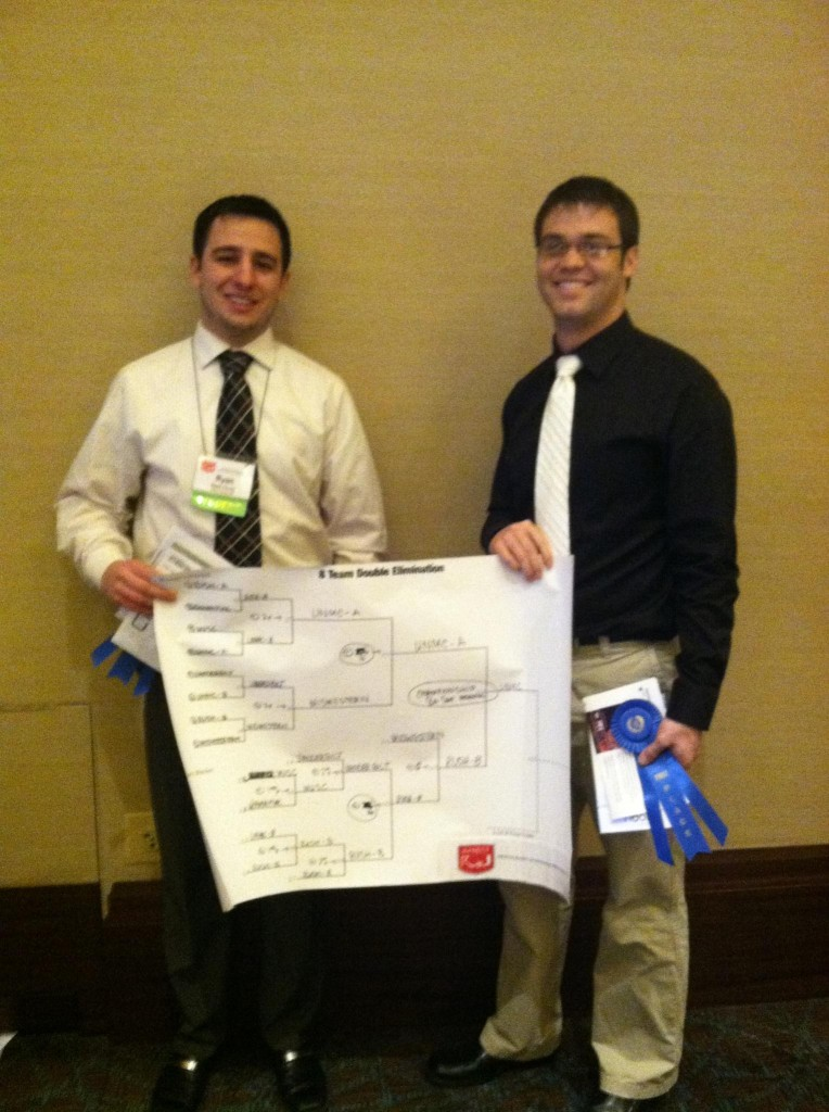Mr. Ryan Zavala and Mr. Cole McCallum with their blue ribbon.