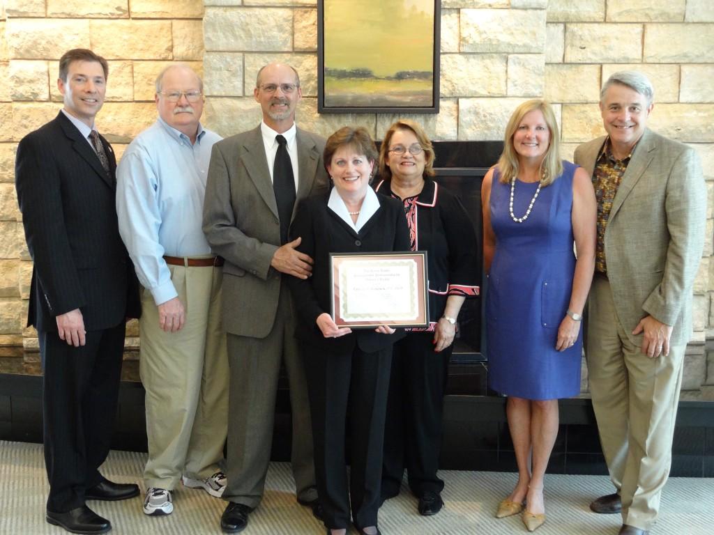 group photo at professorship reception