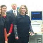 Amanda Holling and Hilary Nevrivy, 2000 and 2013 UNMC radiography & sonography graduates, provide RSTE faculty with a tour of the Midwest Imaging & Advanced Radiology facility in Grand Island.