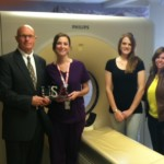 Joy Quinn provided the final tour for the RSTE faculty at the Veteran's Affairs Medical Center in Grand Island.