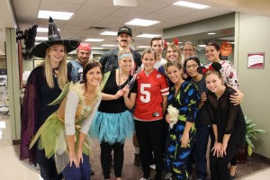 SAHP students dressed up to volunteer with the pediatric in-patients.
