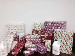 After the wrapping.