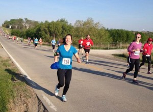 Geri Finn running the half-marathon