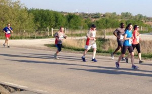 Melissa Dorr running the half-marathon
