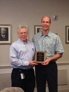 Dr. Joe Norman presents award to  Dr. Gib Willett