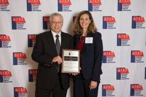 Joe Norman with NPTA President Julie Peterson