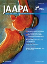 JAAPA cover for Jan 2015