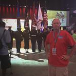 Jim and honor guard