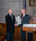 James Temme and Governor Pete Ricketts