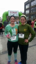 Geri Finn and Melissa Dorr at the Shamrock Run 5K