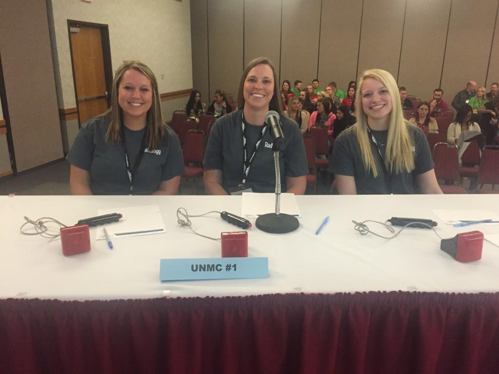 Quiz Bowl Team 1: (l to r) Ellie Brouillette, Emily Johnson, Sydney Welch