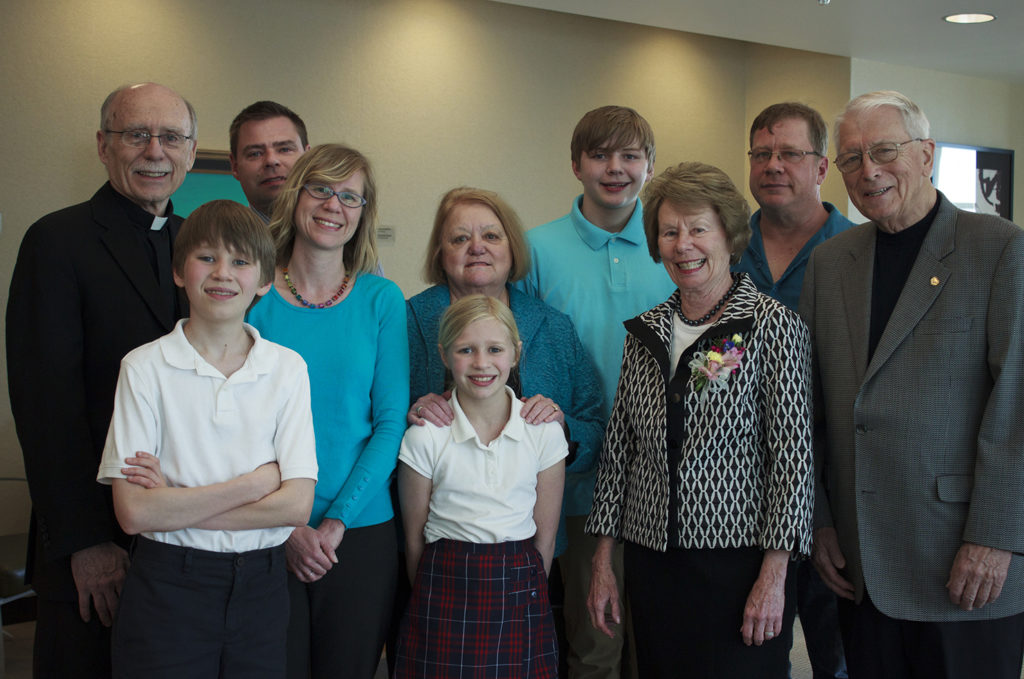 Gilg family at the 2014 reception.