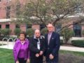From left, Dawn Lisec's parents Darlene and Leonard with James Temme, associate director of the UNMC Department of Medical Imaging and Therapeutic Sciences.