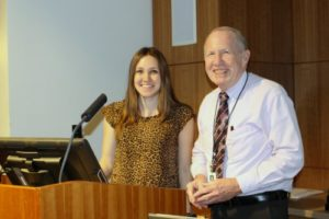 Outgoing FMIG President, Hannah Baldridge, and Dr. Jay Moore, Senior Associate Dean for Academic Affairs.