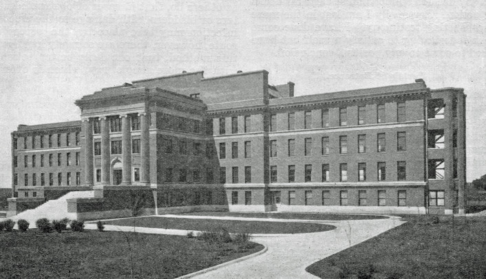 University Hospital, Omaha—opened for patients September 3, 1917.