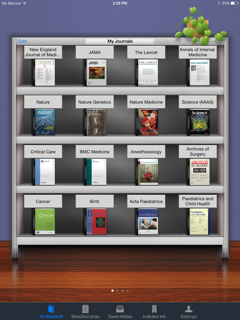 BrowZine helps you organize your favorite journals and take them anywhere you go.