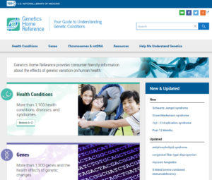 Genetics Home Reference home page