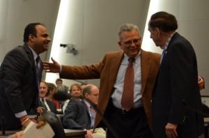 Dr. Ashish Joshi, Dean Ayman El Mohandes and Chancellor Harold M. Maurer, MD