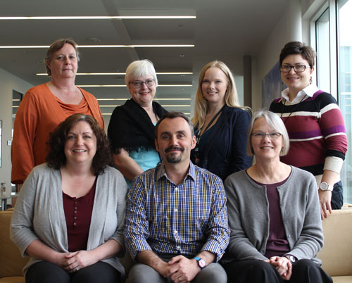 Top Row: Lea Pounds, Denise Britigan, Aleta Gaertner, Brenda Nickol  Bottom row: Analisa McMillan, Sergio Costa, Sue Nardie   Not Pictured: Atul Rayamajhi
