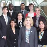 COPH Student Award Winners and Interim Dean Meza
