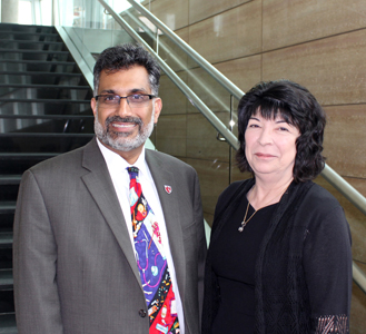 Dean Ali S. Khan and Patricia Lopez, RN, MSN