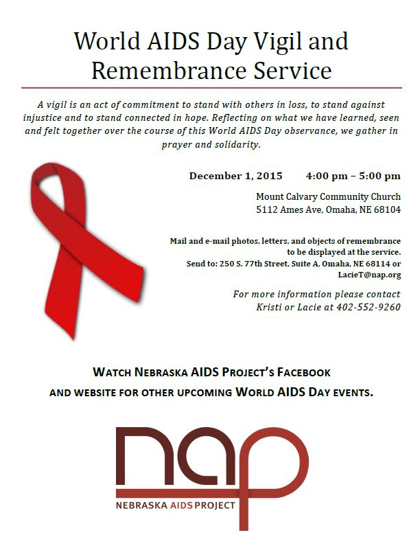 World AIDS Day Vigil and Remembrance Service