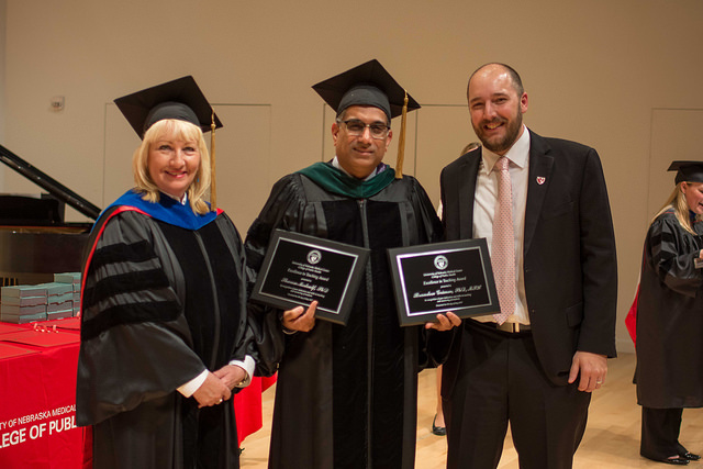 College of Public Health Excellence in Teaching Award Recipients Dr. Brandon Grimm and Dr. Sharon Medcalf