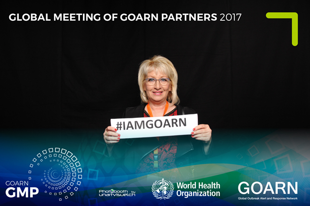 Sharon Medcalf, PhD GOARN logos