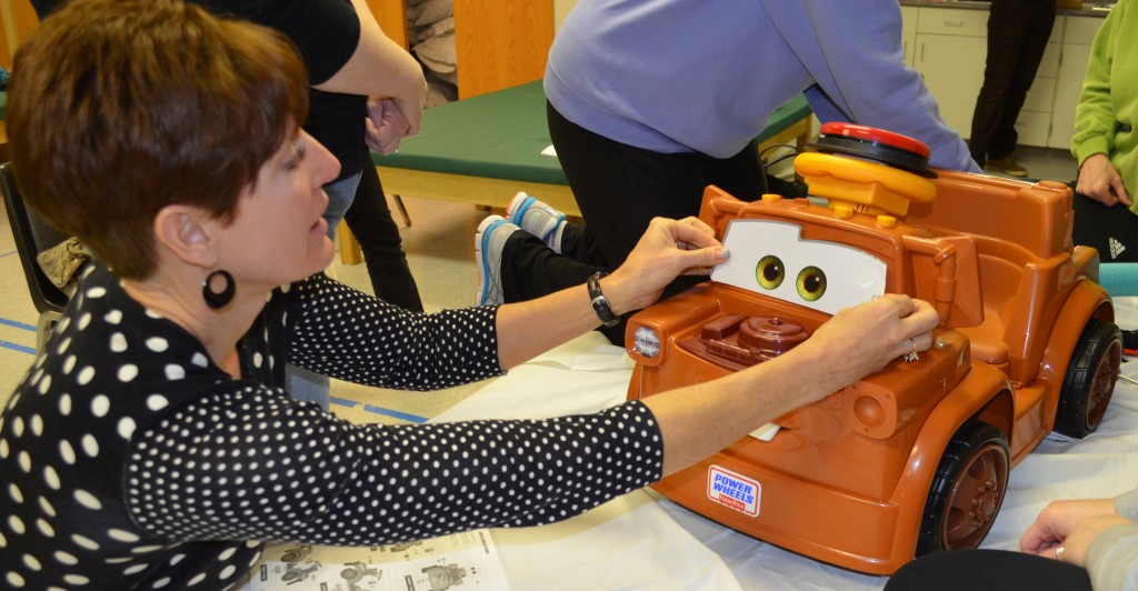"Paula Wachholtz, a physical therapist for Papillion La-Vista School District, came away impressed. ""I want to go to Toys R Us on the way home,"" she said."