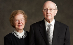Stanley M. Truhlsen, M.D., right, and Dorothy Truhlsen