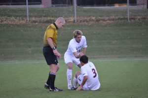 In soccer, players often go down, and go down hard.