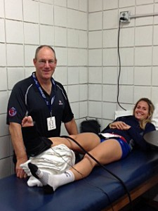 Dr. Mathews, along with a comprehensive med center team, worked the NORECA continental volleyball championship in Omaha.