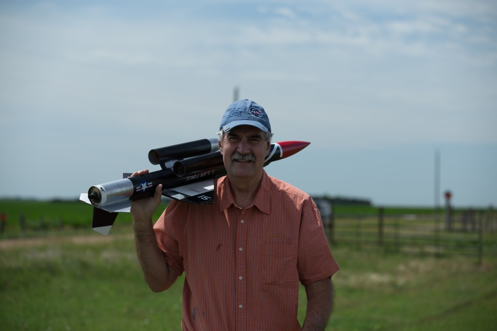 Paul Paulman, M.D., professor of family medicine and part-time rocket man. (Photos by Kevin Trojanowski, The Heartland Organization of Rocketry)
