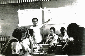 Dr. Nguyen's father, Dong So Nguyen, at Pulau Bidong, a refugee camp in Malaysia, in 1979. The elder Dr. Nguyen was president of the camp, his son said. He later resumed his medical practice in Virginia.